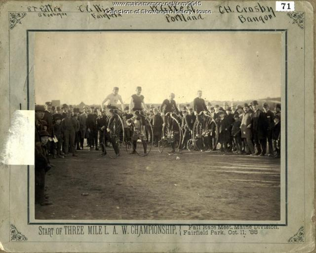 Bicycle Race at Fairfield, 1888