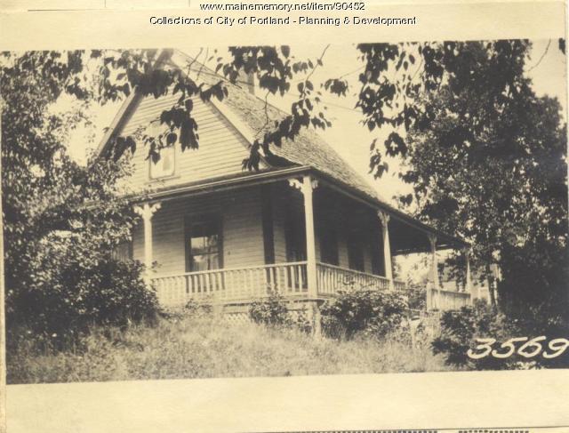 Loveitt property, Church Road, Cliff Island, Portland, 1924