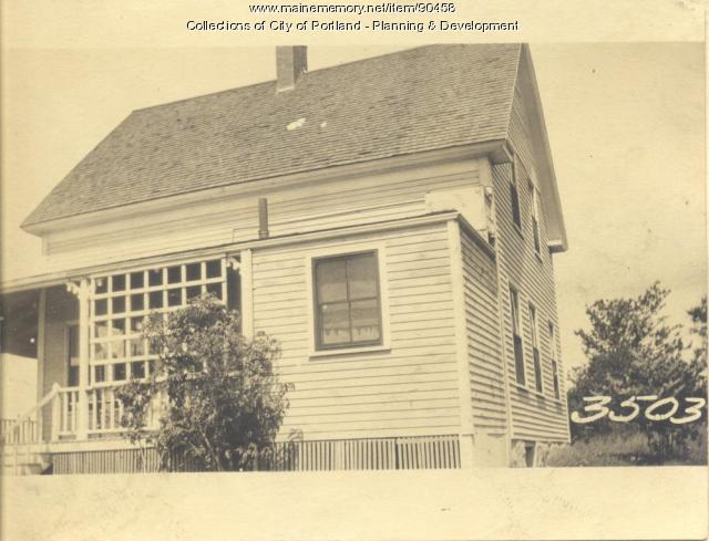 Maxwell property, Sunset Road, North Shore, Cliff Island, Portland, 1924