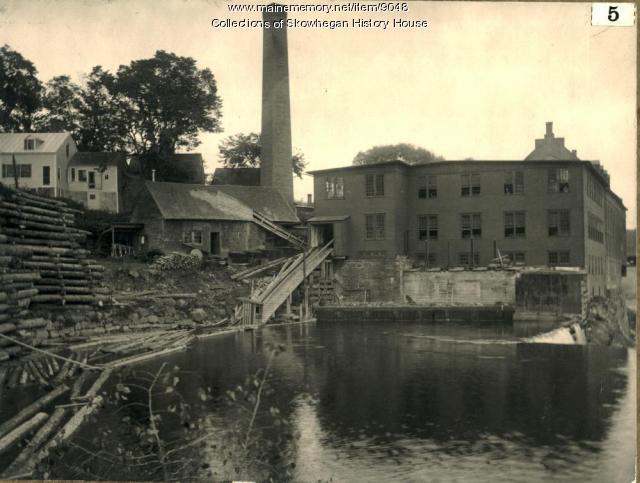 Pulp Mill, Skowhegan, ca. 1900