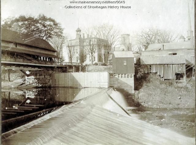South Channel Dam, Skowhegan, ca. 1900