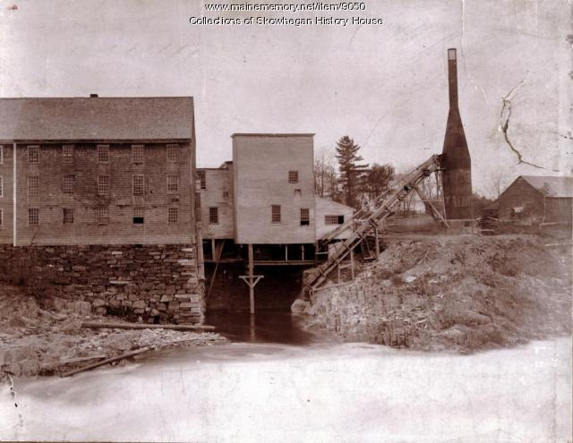 Power Channel at Head of Island, Skowhegan, 1889
