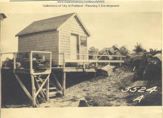 Ricker property, Church Road, Cliff Island, Portland, 1924