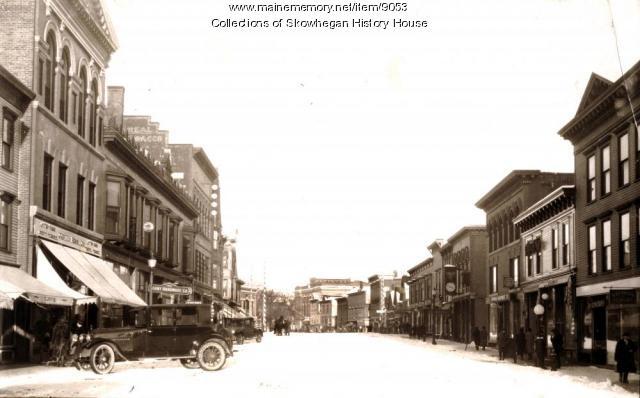 Water Street, Skowhegan, ca. 1924