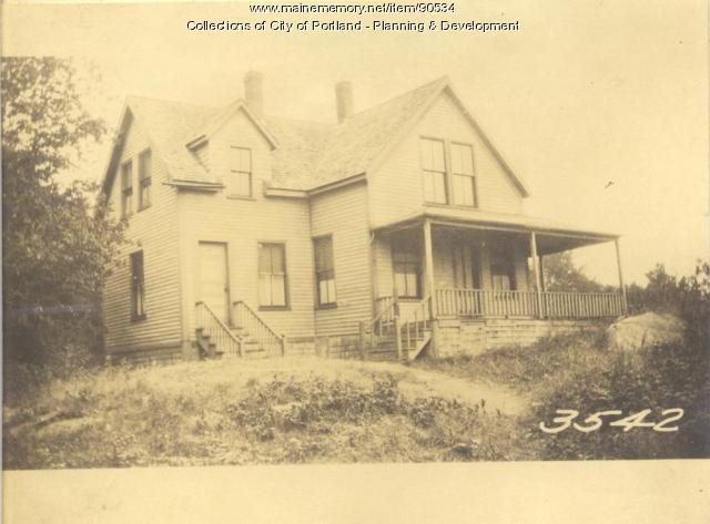 Davis property, Maine Road, Rear, Sunset Avenue, Cliff Island, Portland, 1924