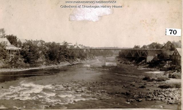 Maine Central Railroad Bridge, Skowhegan, ca. 1896