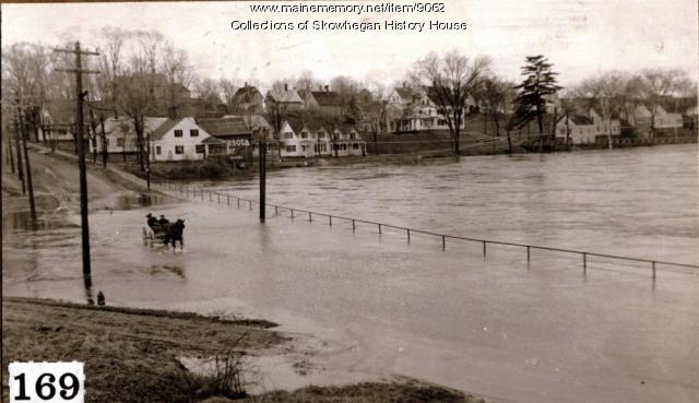High water, Skowhegan, 1923
