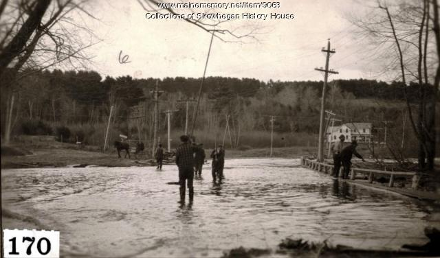 High water, Skowhegan, 1923