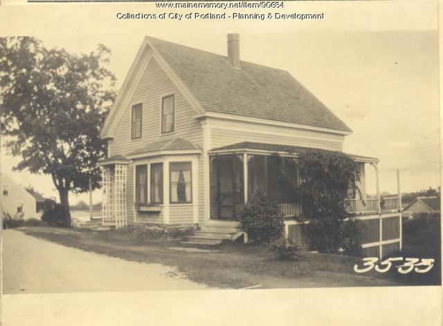Southard property, S.E. side City Street, Cliff Island, Portland, 1924