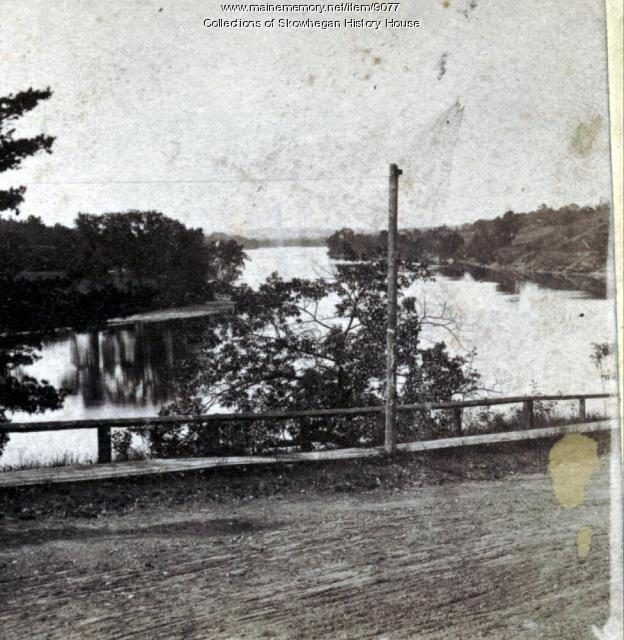 Looking Southwesterly from Elm Street, Skowhegan, ca. 1900