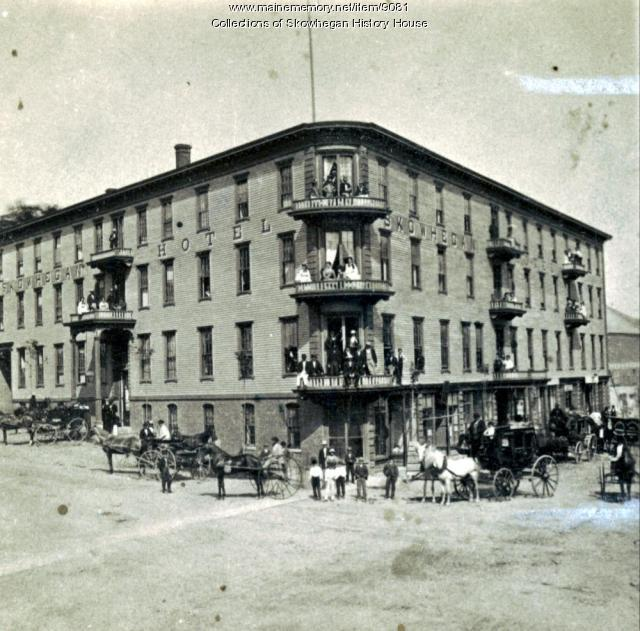 Madison Avenue and Elm Street, Skowhegan, ca. 1870