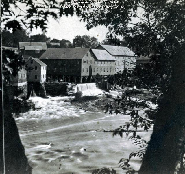 South Side of River, Skowhegan, ca. 1870