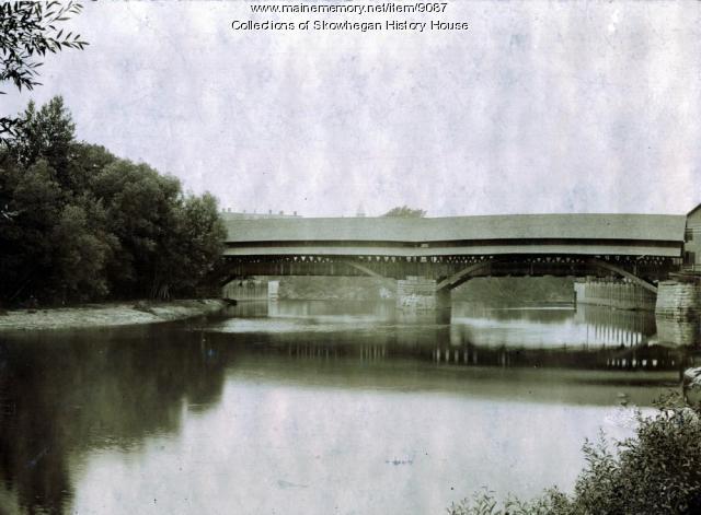 South Channel Bridge, Skowhegan, ca. 1894