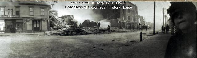 Coburn Hall Fire, Skowhegan, 1904