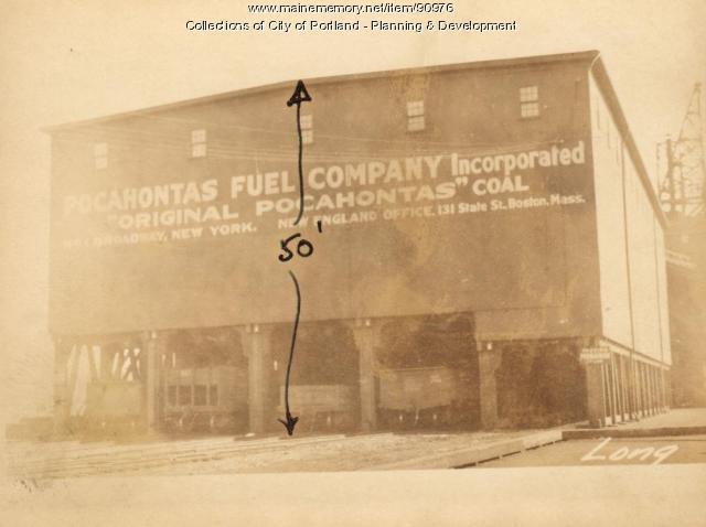 Coal Pocket, Pocahontas Wharf, Portland, 1924