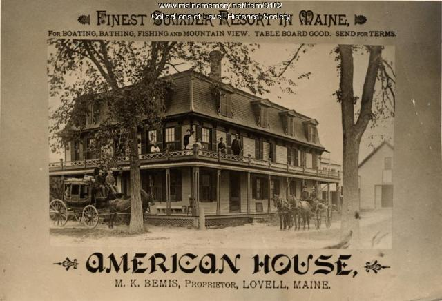 The American House, Lovell, ca. 1890