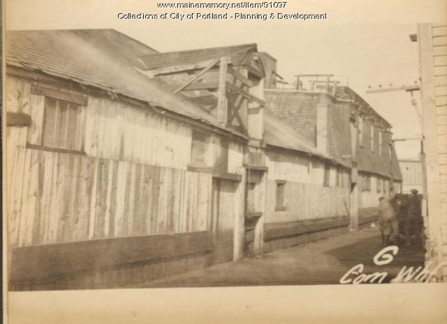 Commercial Wharf, Portland, 1924