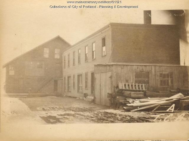 Workshop, Merrills Wharf, Portland, 1924