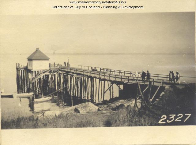 Casco Bay Wharf Co.  property, Ponce Landing, Long Island, Portland, 1924