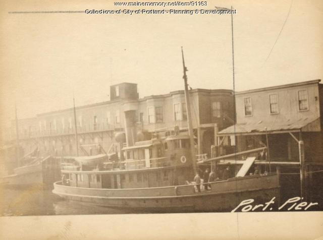 Office, Portland Pier, Portland, 1924