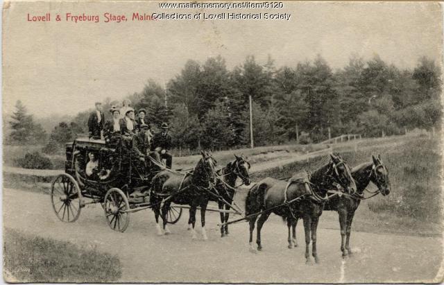 Lovell & Fryeburg Stage, Lovell, ca. 1900