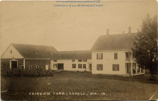 Fairview Farm, Lovell, 1914