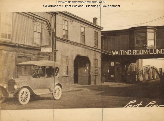 Freight House, Portland Pier, Portland, 1924