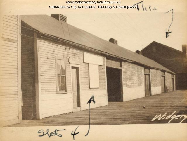 Freight-Storage, Widgery's Wharf, Portland, 1924