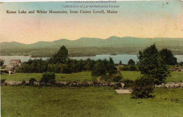 Kezar Lake and White Mountains, from Center Lovell