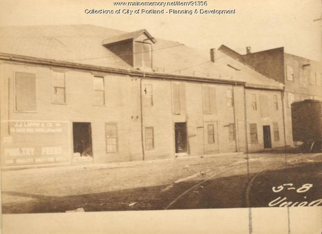 Storage of Hay, Union Wharf, Portland, 1924