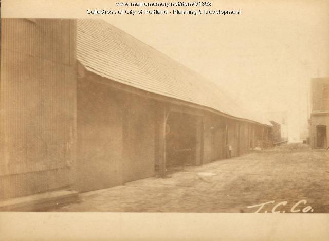 Shelter for trucks, Merrills Wharf, Portland, 1924