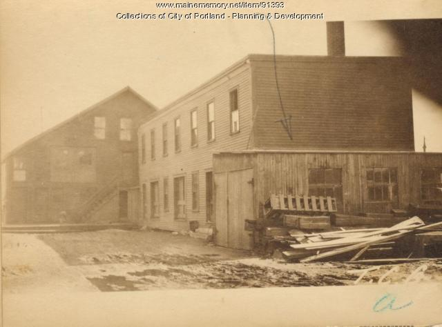 Garage, Merrills Wharf, Portland, 1924