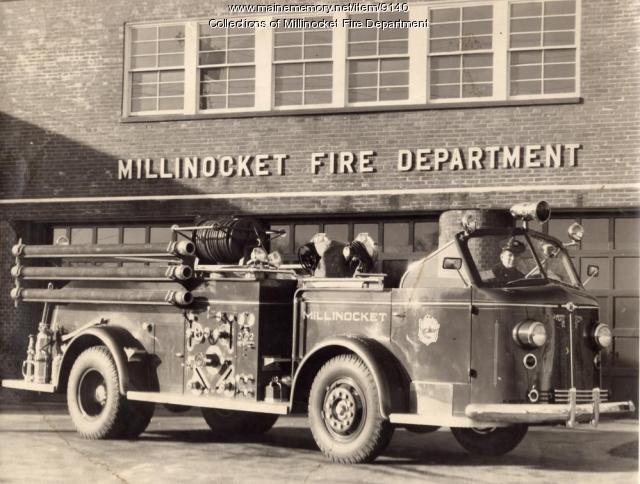 Millinocket fire truck, ca. 1960