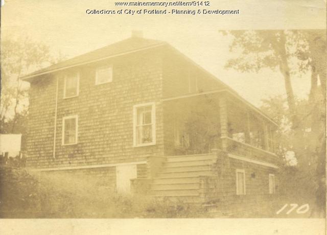 Fogg property, N. Side Island Avenue, Lot 92, Peaks Island, Portland, 1924