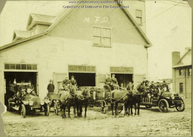 Penobscot Avenue Fire Station, Millinocket, ca. 1915