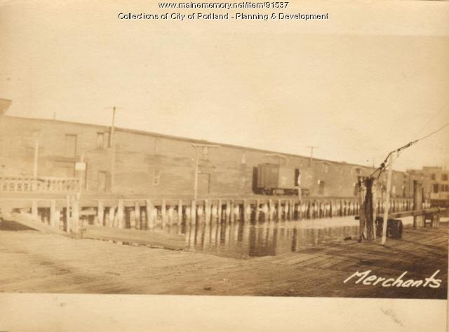 Storage, Merchants Wharf, Portland, 1924