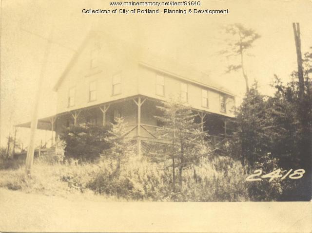 14th Maine Regiment  property, Island Avenue, Long Island, Portland, 1924