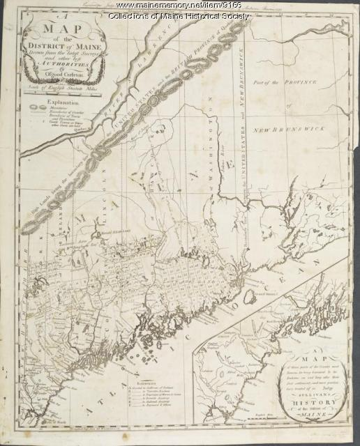 District Of Maine Map 1795 Maine Memory Network