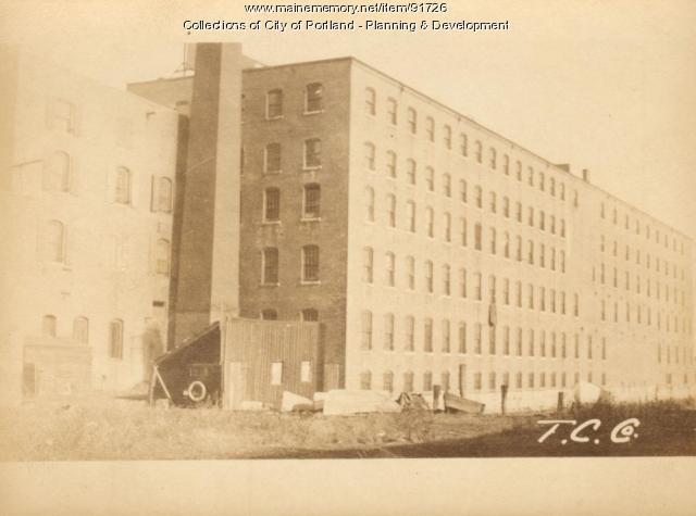 Canning Factory, Merrills Wharf, Portland, 1924