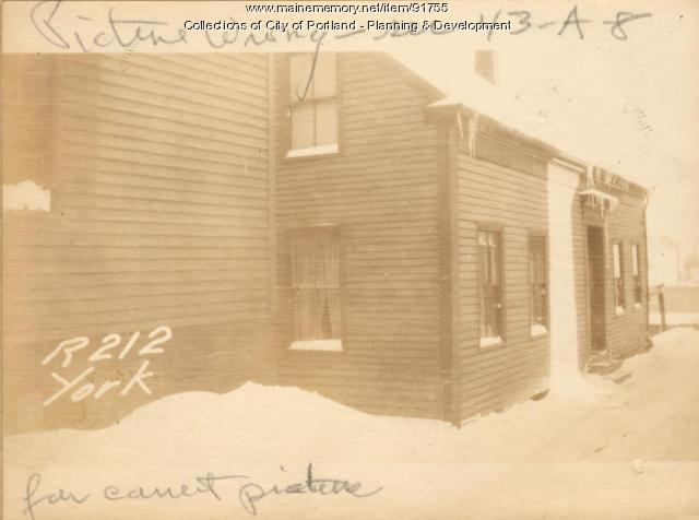 212 York Street (rear), Portland, 1924