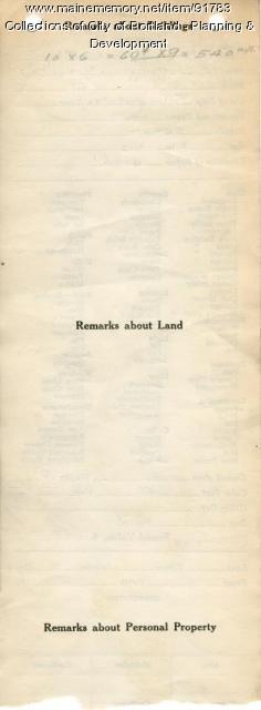 Assessor's Record, 1437 Washington Avenue, Portland, 1924