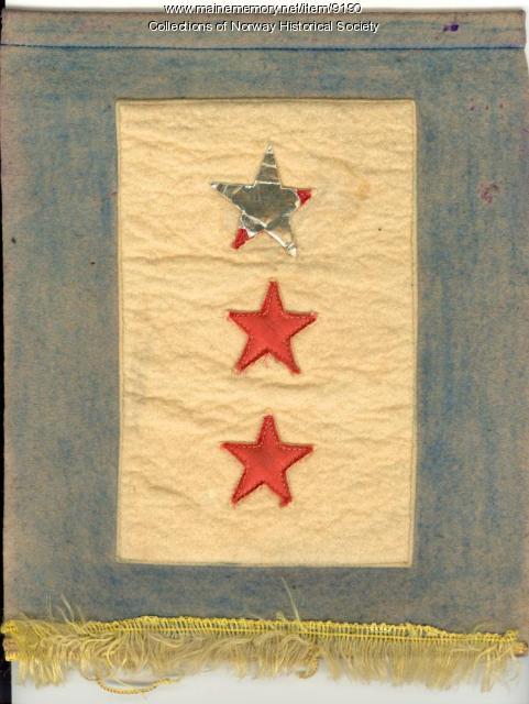 WWII Patriotic banner, circa 1945