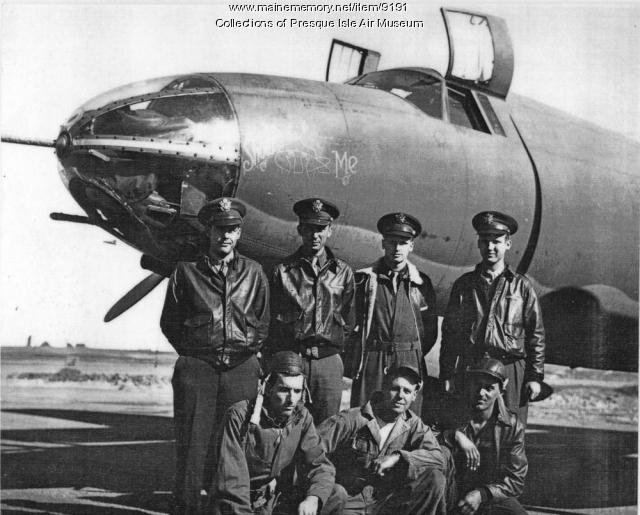 B-26 and crew, Presque Isle air field, ca. 1943