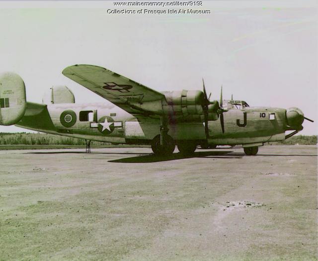 Navy patrol bomber, Presque Isle, ca. 1945