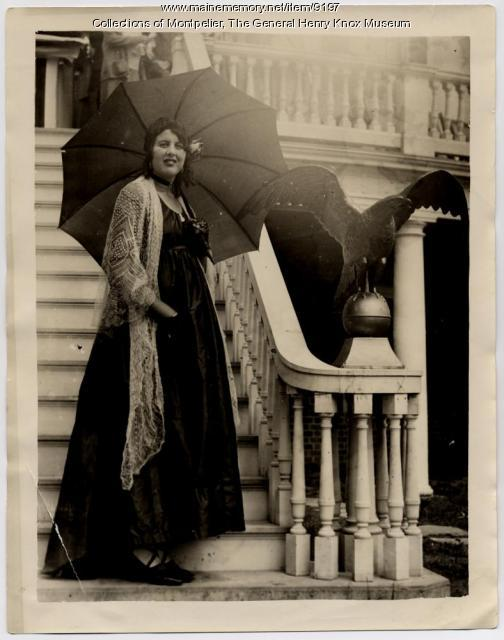 Woman in costume, Montpelier, Thomaston, 1931