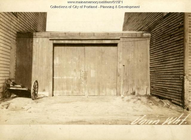 Wharfingers Tool House, Union Wharf, Portland, 1924