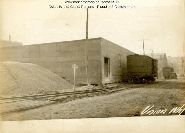 Cement Storage, Union Wharf, Portland, 1924