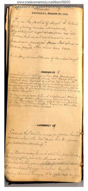 Abner Small prison diary, 1864-1865