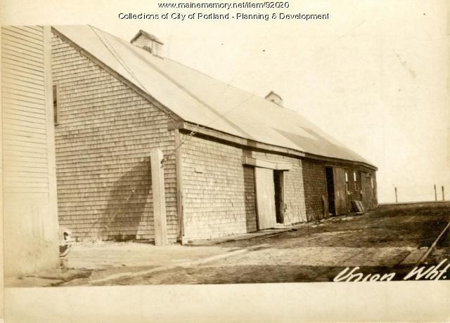 Storage of Salt, Union Wharf, Portland, 1924