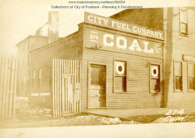 Office, Commercial Street, Portland, 1924